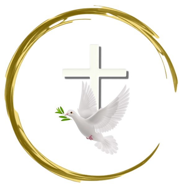 church logo with white cross and white writing
